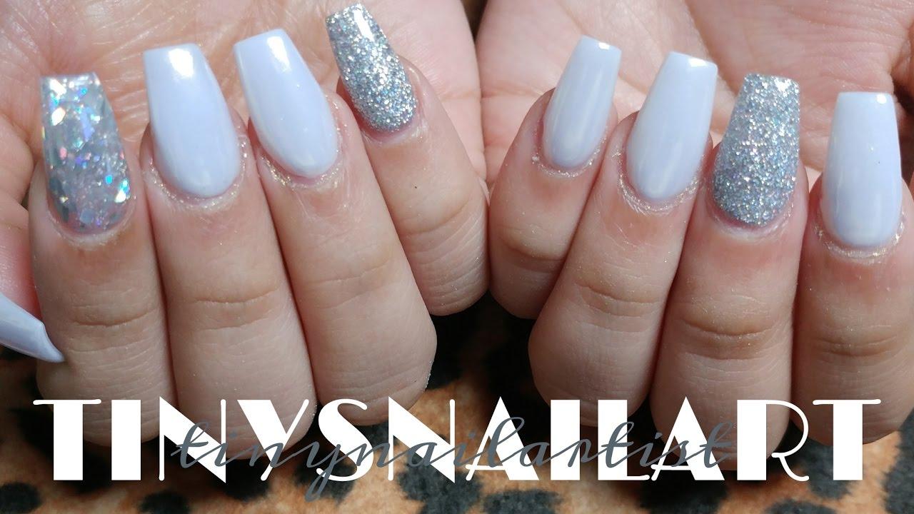 white pearl chrome nails