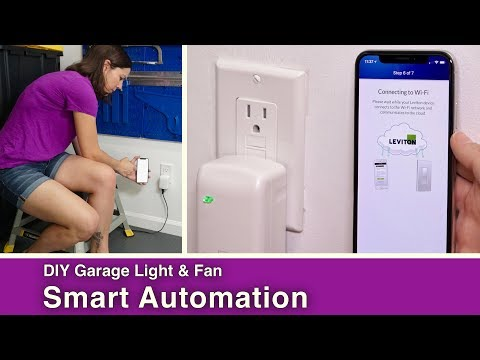 DIY Garage Light & Fan Automation // Leviton Smart Plugs