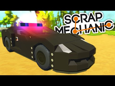 Scrap Mechanic CREATIONS - 9 AMAZINGLY DETAILED POLICE CARS!