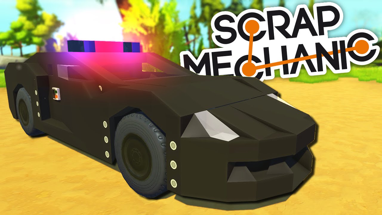 Scrap Mechanic CREATIONS - 9 AMAZINGLY DETAILED POLICE CARS! - YouTube