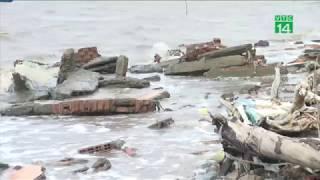VTC14 | Hàng chục hộ dân ven biển Tiền Giang mất nhà trong mùa gió chướng