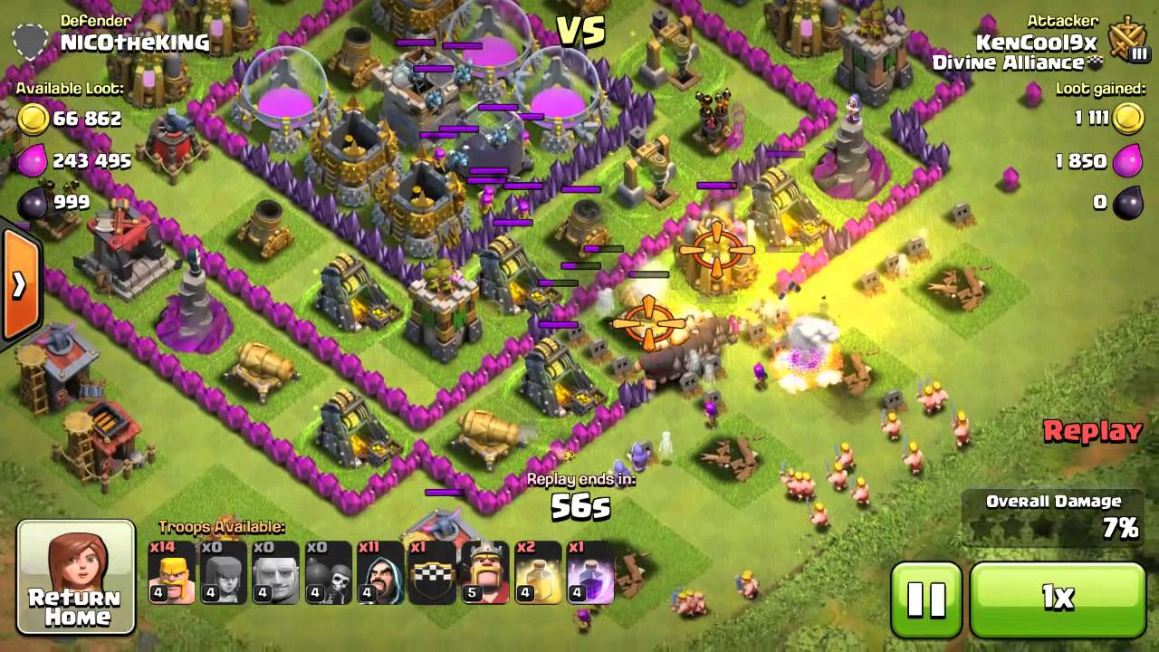 Dark elixir drill boost - Clash Of Clans Th7 Dark Elixir Farming Attack Just Watch And Learn
