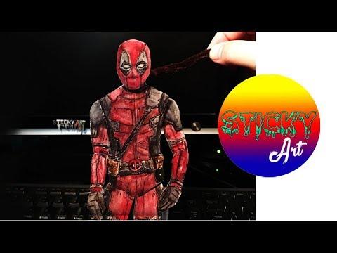 Making  (Deadpool 2) Paper Puppet DIY) 2018 | HD