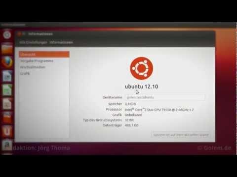 Ubuntu 12.10 alias Quantal Quetzal - Test von Golem.de