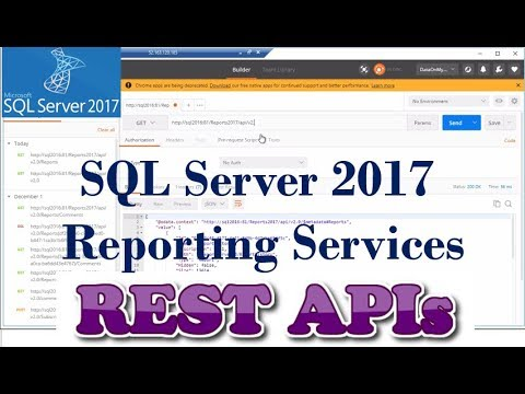 SQL Server Reporting Services 2017 - REST APIs | New Features | SSRS 2017