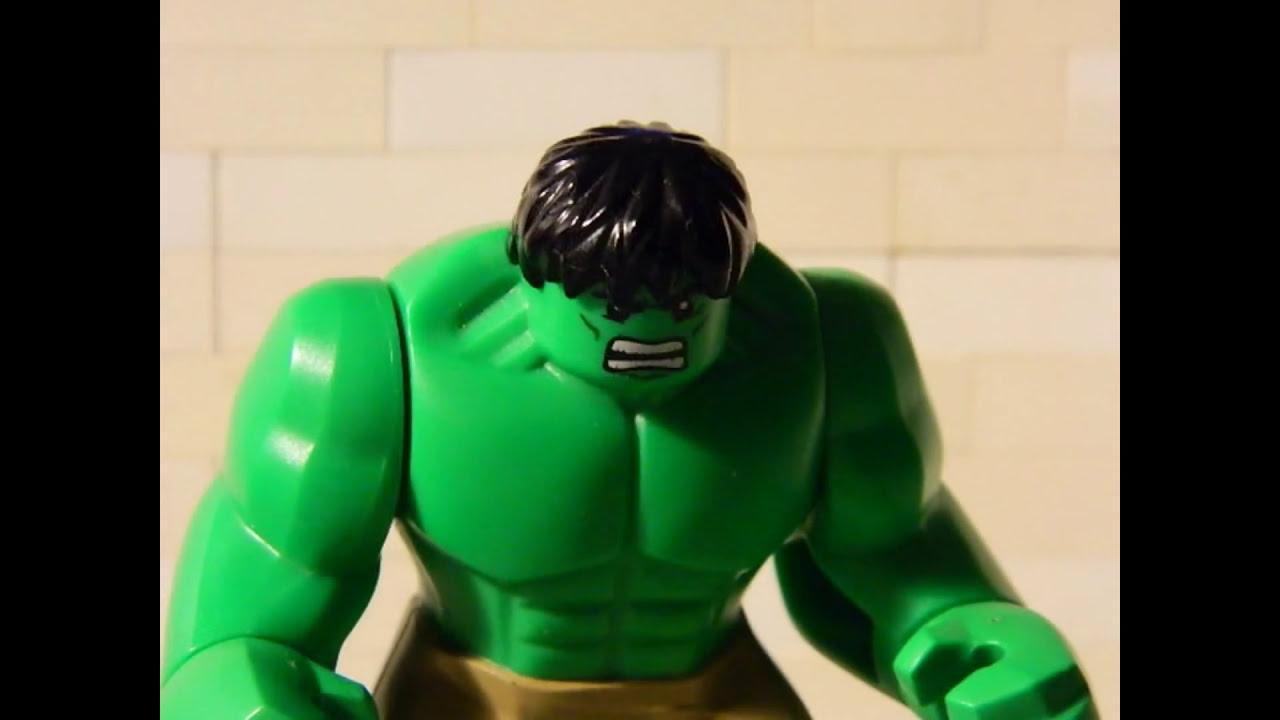 Hulk VS Loki Avengers Scene Puny God In Lego - YouTube