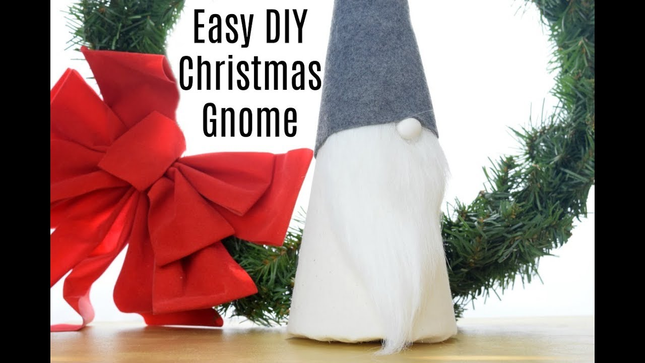 easy diy cone christmas scandinavian gnome - Christmas Gnome