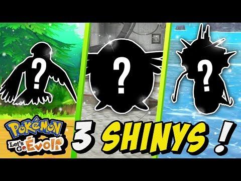 J'attrape 3 SHINYS ! - Retour Sur POKEMON Avant Épée & Bouclier !