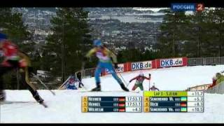Ukrainian biathlon triumph (Holmenkollen-2010, women mass-start)