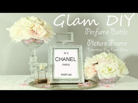 Dollar Tree DIY Glam Perfume Bottle Frame | zgallerie Inspired
