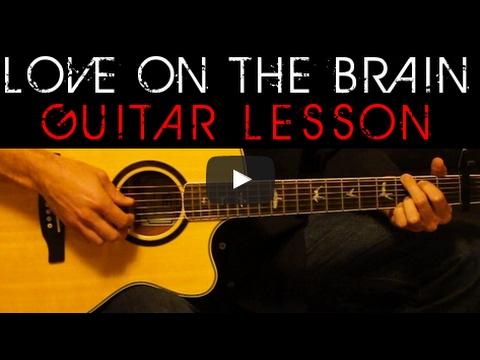 Rihanna Love On The Brain Easy Acoustic Guitar Tutorial Lesson