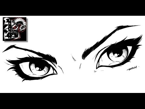 How to draw comics womans eyes tutorial sketchbook pro video