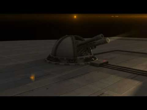 3D gun turret....  Now with rapid fire and target tracking!