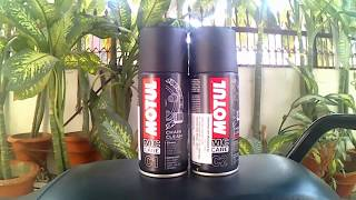 How to Clean and Lube a Motorcycle chain || Motul C1 C2