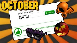 ALL ACTIVE ROBLOX PROMOCODES! - (October 2019)