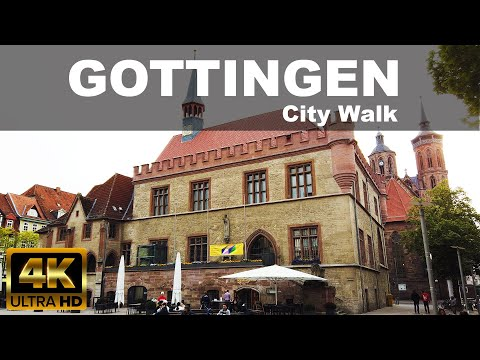 GOTTINGEN CITY WALKING TOUR | 4K UHD | ⛅ | 🇩🇪 | GERMANY