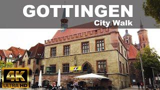 Gottingen City Walking Tour   4k Uhd   ⛅   🇩🇪   Germany