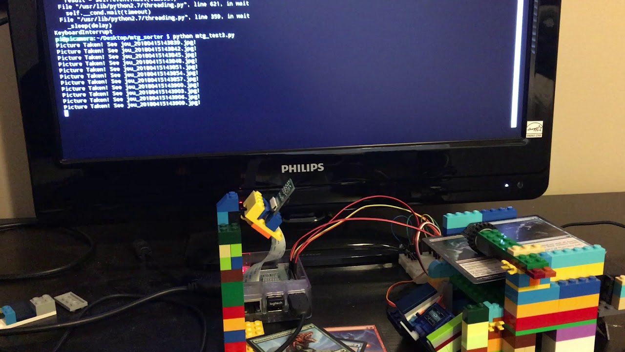 Magic: The Gathering card scanner with Raspberry Pi and Lego