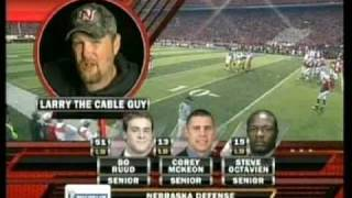 Larry the Cable Guy introducing the Huskers for ESPN