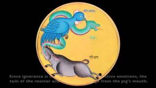 Explanation of tibetan buddhism wheel of life  (Sipa Khorlo, Bhava-cakra) by Kyutsang Rinpoche 1/2