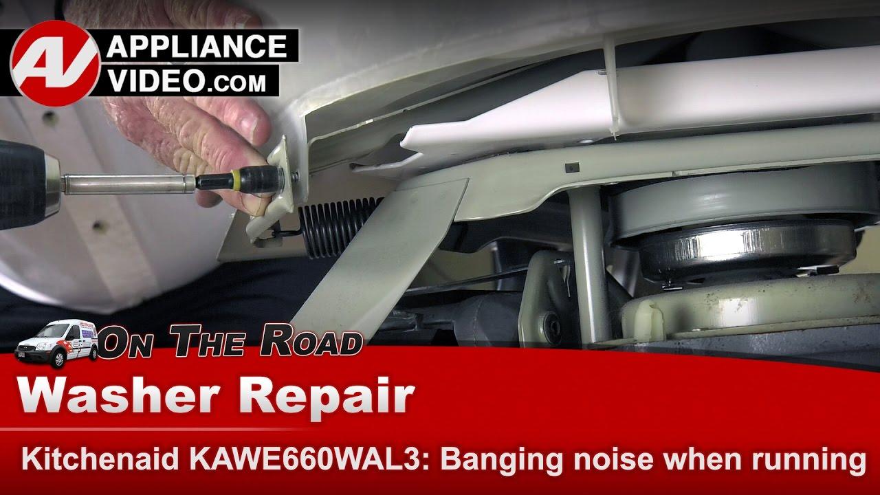 KitchenAid , Whirlpool & Roper Washer - Banging noise when running -  Diagnostic & Repair