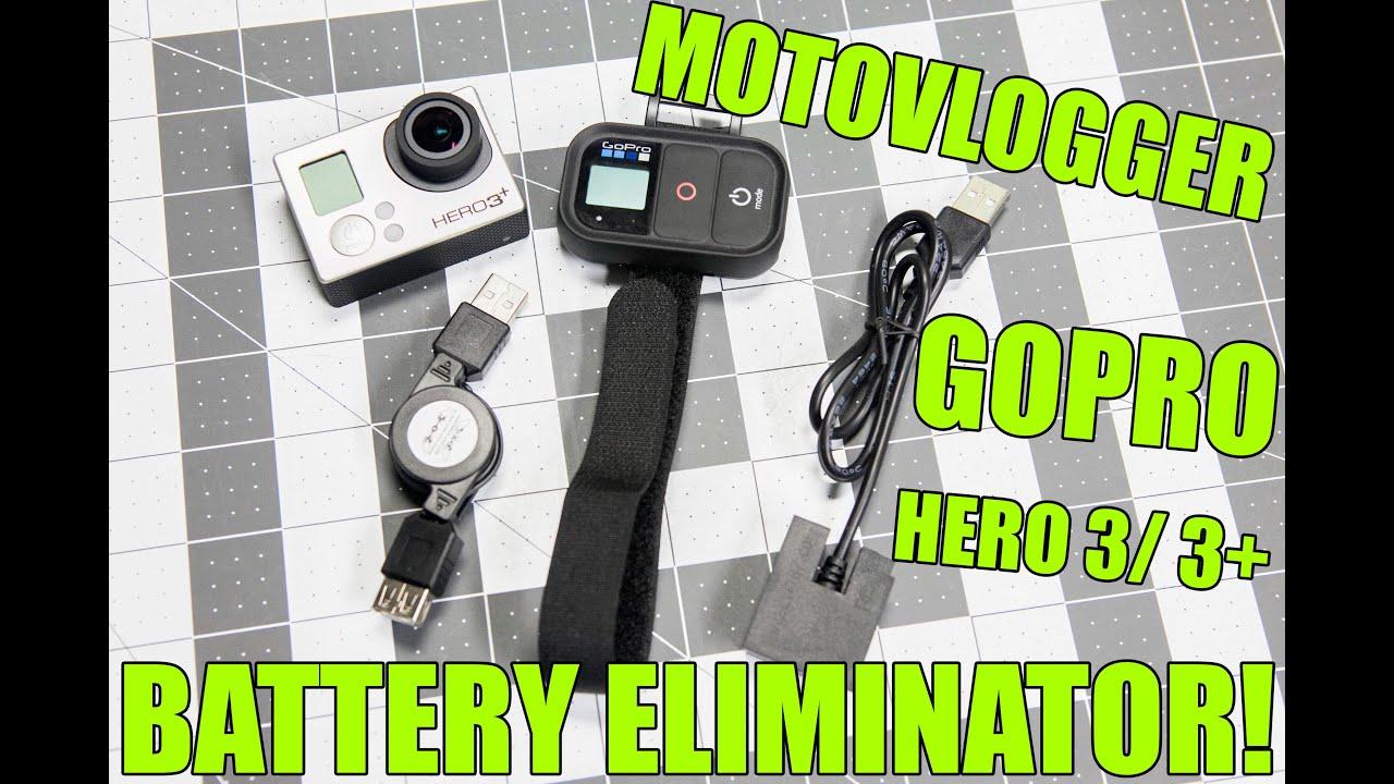 motovlogger gopro battery eliminator for hero 3 3 3 black youtube. Black Bedroom Furniture Sets. Home Design Ideas