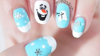 ❄ DIY Olaf Nail Stickers with a SANDWICH BAG! + GIVEAWAY #3 (ENDED)