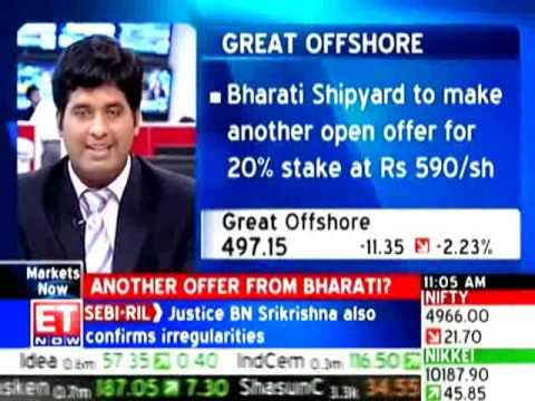 Bharati plans open offer II to buy stake in Great Offshore