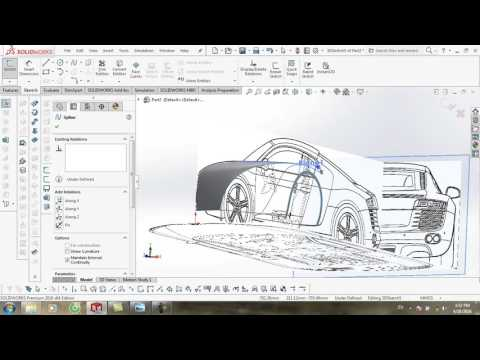 vẽ surface audi by solidworks part 2
