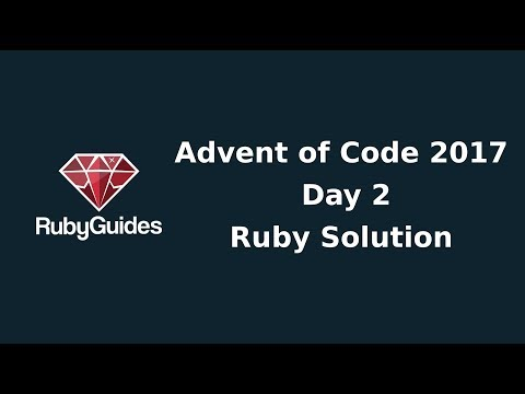 Advent of Code 2017: Day 2 - Ruby Solution