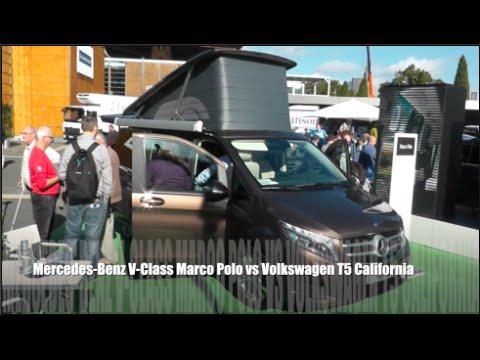Mercedes V Class >> Mercedes-Benz V-Class Marco Polo 2015 vs Volkswagen T5 ...