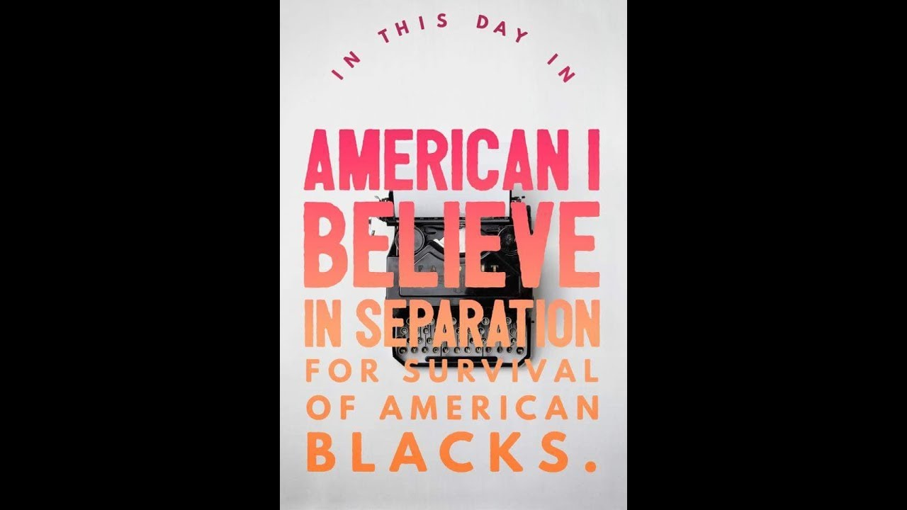 HOW SEPARATION WORKS FOR BLACK AMERICA