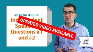 Inside the TOEFL® Test: Speaking Questions 1&2