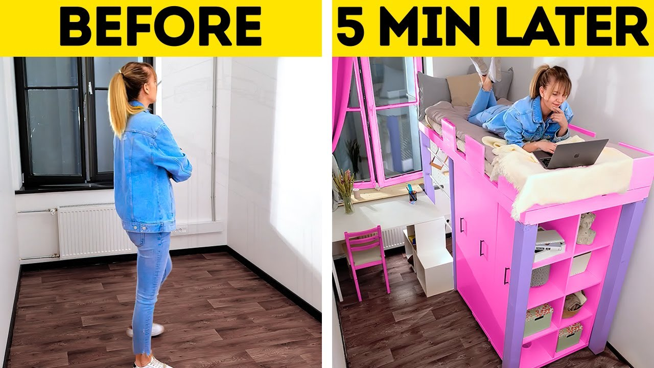 JAW-DROPPING ROOM TRANSFORMATION || Wonderful Home Decor Ideas And Cheap DIY Furniture