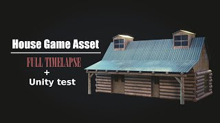 Little house Game Asset in Blender - [ Full Timelapse + Unity test ]