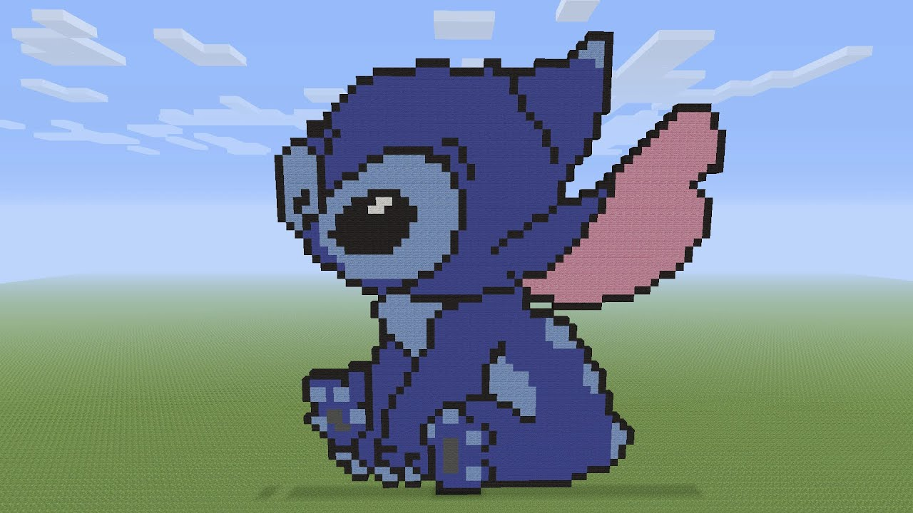 Minecraft Pixel Art Stitch From Lilo Stitch YouTube