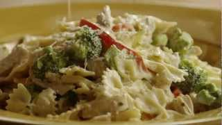 Get the 5-star recipe @ http://allrecipes.com/recipe/chicken-and-bow-tie-pasta/detail.aspx Watch how to make a simple pasta dish with chicken, broccoli, and a ...
