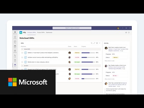 Microsoft Viva - Ally.io in Microsoft Teams