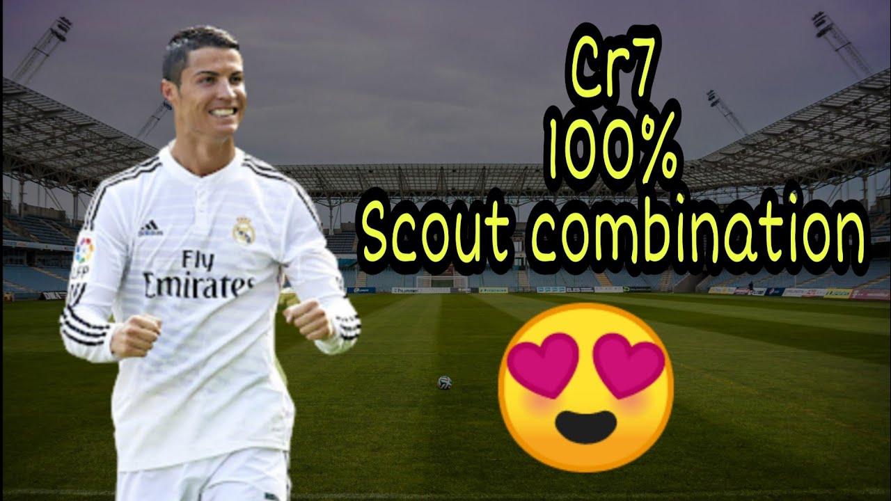 Cristiano Ronaldo 100% Scout Combination Pes 2019#TRICKMAN