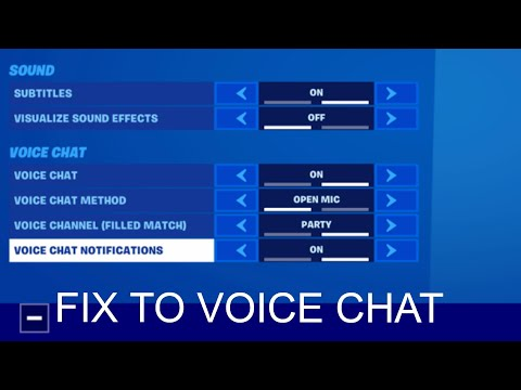 Fortnite Game Chat Not Working FIX!!!(NEW METHOD)