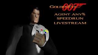 GoldenEye 007 N64 - Agent Speedruns livestream - New PB's! (27:45.96)