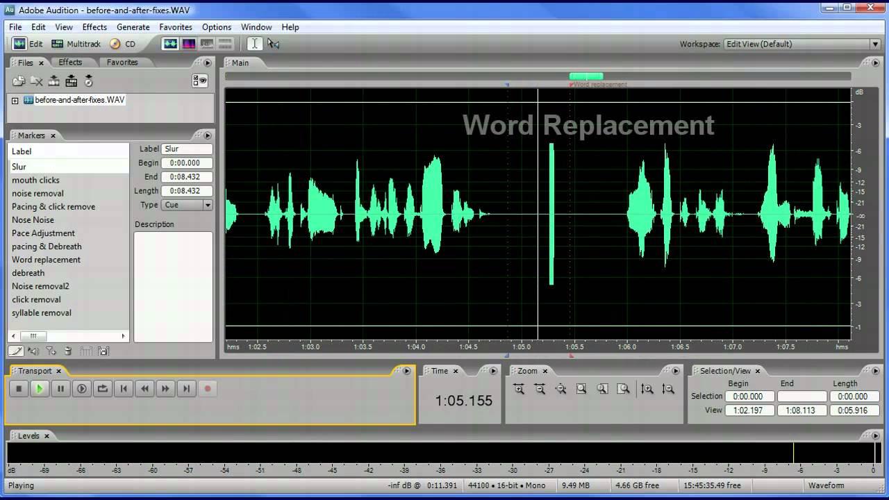 Spoken Word Narration Audio Editing