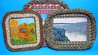 ▬► Плетеная рамочка с загибкой «Мирахелька». Часть 3.1.