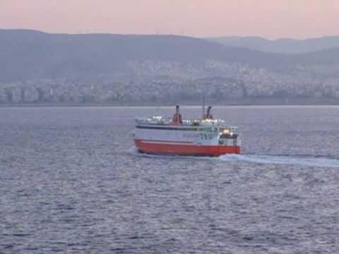 Early morning ships arriving at Piraeus