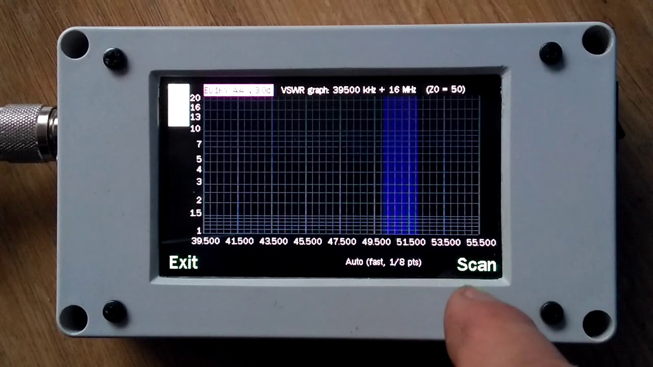EU1KY antenna analyzer v3 with code mods by DH1AKF and my own menu  structure