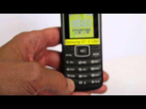 Samsung E1050 キーパッドロックの解除