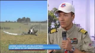Homem causa acidente com helicóptero que construiu