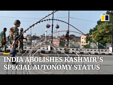India revokes Kashmir's long-held special status, raising opposition from Pakistan and China