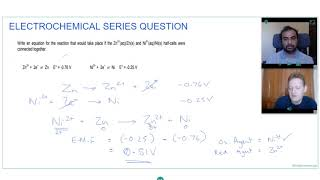 HOW TO WRITE REDOX  EQUATION USING ELECTRODE POTENTIALS