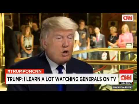 Donald Trump Interview CNN FULL 8 19 15 Chris Cuomo Donald Trump takes on Clinton, Bush and the Pope